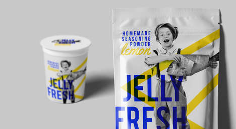 Jelly Fresh Packaging Channels Antique Imagery for Nostalgic Marketing