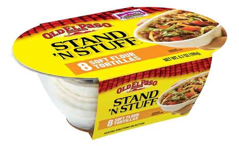 Flat Bottom Flour Tortillas - Old El Paso Stand 'N Stuff Soft Flour Tortillas are a Mess-Free Option