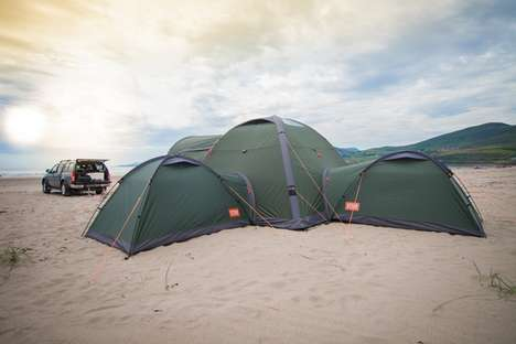 Temperature-Controlled Tent Designs - The Crua Clan is a Series of Moduler Tents and Accessories