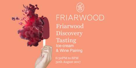 Ice Cream Wine Pairings - Friarwood and Scoop are Teaming Up for a Unique Wine Tasting Event