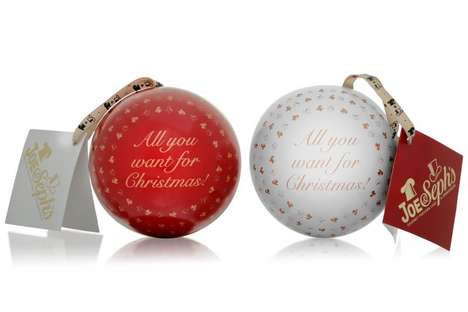 Festive Snack-Filled Baubles - Joe & Seph's Christmas Bauble Decoration is Filled with Popcorn