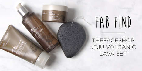 Volcanic Ash Skincare Sets - The Jeju Volcanic Lava Set Seeks to Cleanse and Clarify the Skin