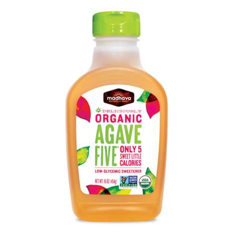 Blended Agave Syrups - Madhava's Organic AgaveFIVE Features Agave, Monk Fruit and Stevia