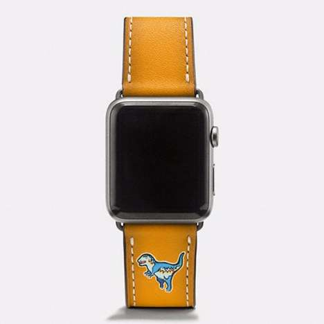 Dinosaur Smartwatch Bands - The Rexy Strap from Coach is Now Available in Fall Colors