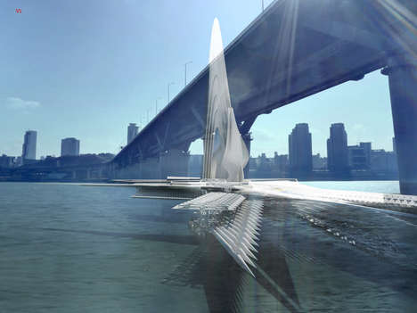 Mobile Self-Powered Bridges - This Energy-Efficient Bridge Can Be Transformed to Sail Around a River