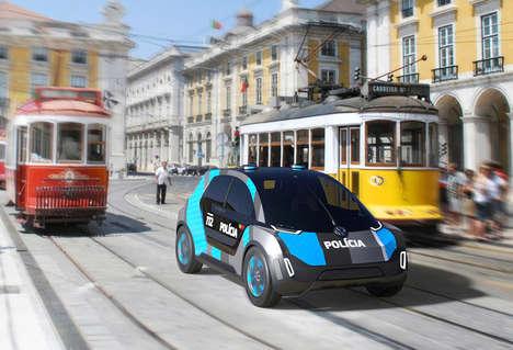 Futuristic Patrol Vehicles