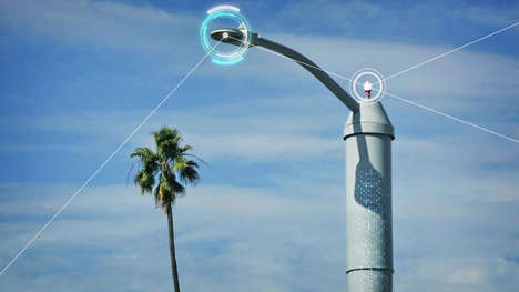 Environment-Monitoring Streetlight Sensors