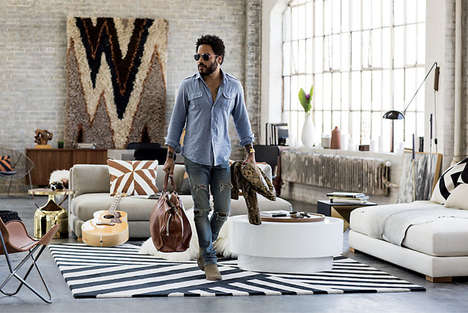 Rockstar Collaboration Furniture Collections - The CB2 x Lenny Kravitz Collection is Glam and Retro