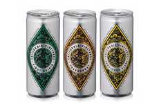 Premium Canned White Wines - These Diamond Collection Single-Serve Wine Cans are Convenient