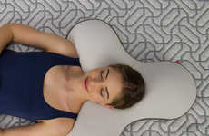 Ergonomic Multi-Angle Pillows - The Celliant Sleep Boomerang Memory Foam Pillow Eliminates Pressure