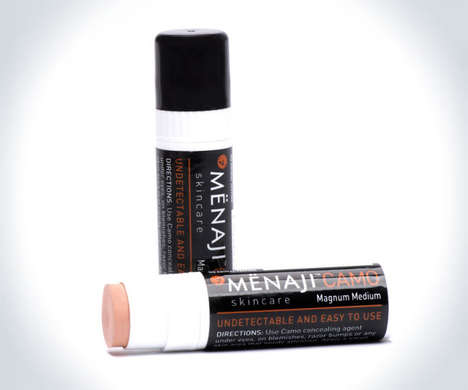 Male-Targeted Concealers - Menaji's CAMO Makeup Concealer for Men is Simple to Apply