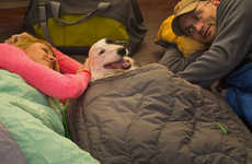 Canine Camping Equipment - The Ruffwear Highlands Sleeping Bag for Dogs Keeps Dogs Cozy