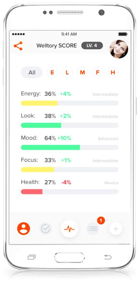 Stress-Measuring Smartphone Apps - 'Welltory' is an App-Enabled Personal Stress Management Coach