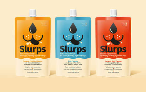 Liquid Dog Treats - Slurps Makes Liquid Treats for Dogs in Chicken, Fish and Beef Flavors