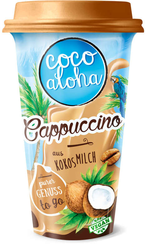 Coconut Milk Cappuccinos - The Coco Aloha Cappuccino is Made with a Base of Creamy Coconut Milk