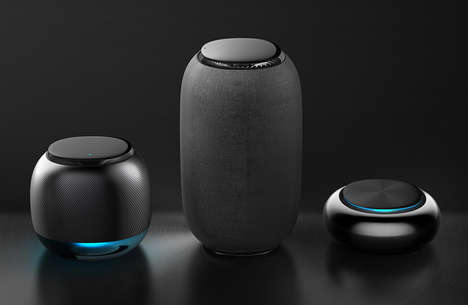 Touch-Enabled Voice Assistant Speakers