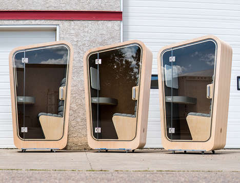 Office Space Seclusion Pods - The 'Loop' Privacy Pod Offers a Quiet Space to Take Calls or Zone Out