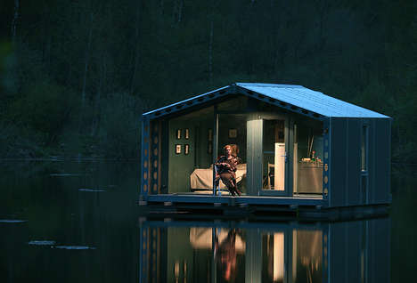 Floating Prefab Cabins