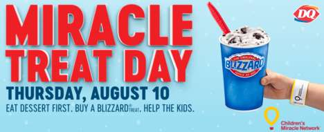 Charitable Ice Cream Events - Purchases of Dairy Queen Blizzards Help the Children's Miracle Network