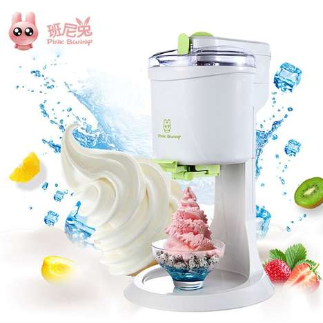 Automated Ice Cream Machines - The Pink Bunny Automatic Ice Cream Maker Crafts Perfect Soft Serve