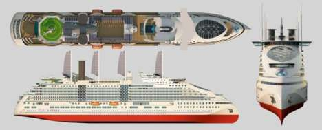 Eco-Friendly Cruise Ships - Peace Boat's EcoShip is Sustainable and Features Solar Panel Sails