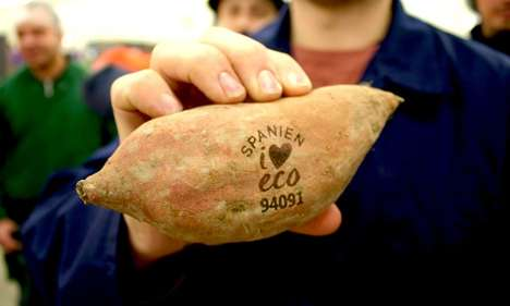 Naturally Branded Produce - Supermarkets in Sweden are Opting to Laser-Brand Produce to Reduce Waste