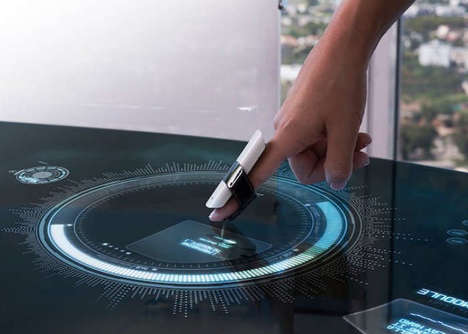 Interactive Finger PCs - The MUV Interactive 'BIRD' Finger Wearable Turns Surfaces into Touchscreens