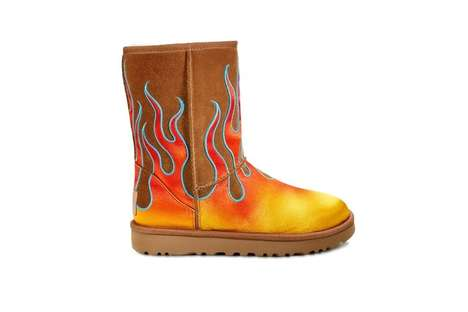 Boldly Emblazoned Suede Boots - Ugg and Jeremy Scott Joined to Create an Artful Line of Boots