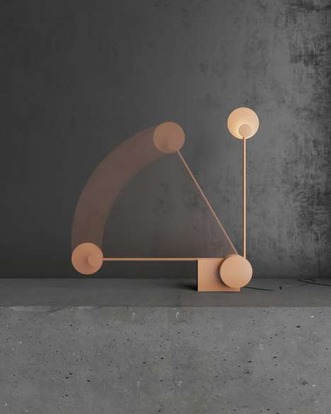 Shifting Sun-Inspired Floor Lamps - The 'Ra Lamp' Rises and Sets Like the Sun