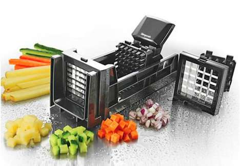Pumping Produce Choppers - The Simposh Food Dicer Makes Quick Work of Fruit and Vegetables