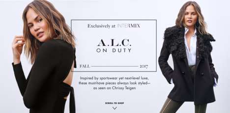 Casual Sportswear Collaborations - Chrissy Teigen & A.L.C Unveiled a Collection for Intermix