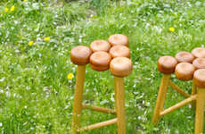Apple-Inspired Stools