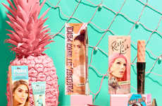 Influencer-Branded Cosmetics - Benefit's Beauty Stowaway Set Features Social Media Icons