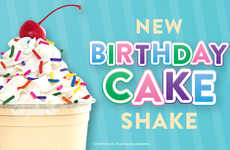 Creamy Birthday Treat Milkshakes