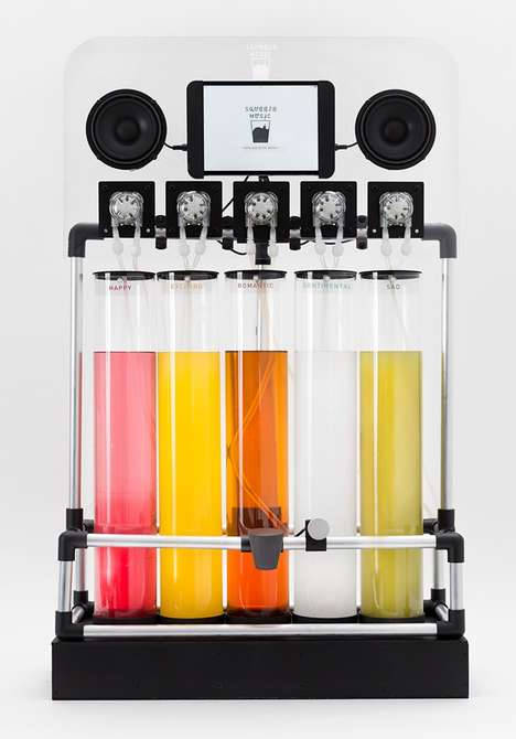 Jukebox Juice Makers - Squeeze Box Lets Users Taste Music by Converting A Songs Mood into Taste