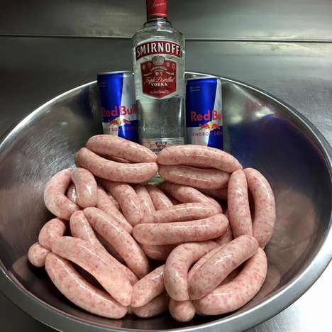Energy Drink-Infused Sausages - Maguire Meats Now Sells Vodka and Red Bull-Flavored Sausages