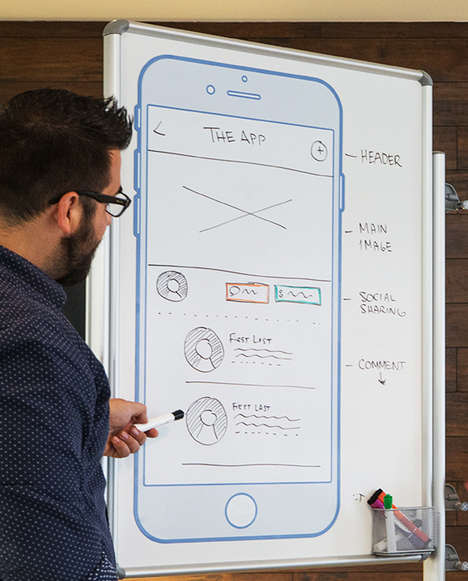 Smartphone Whiteboard Designs - UX Whiteboards are Designed to Help Designers Work Better