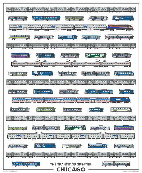 Urban Transit Graphics - 'Transit Oriented' Contains Detailed Posters of Public Transport Vehicles