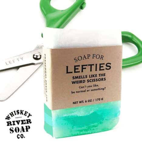 Left-Handed Soaps - 'Soap for Lefties' Markets Itself to Excluded Left-Handed People