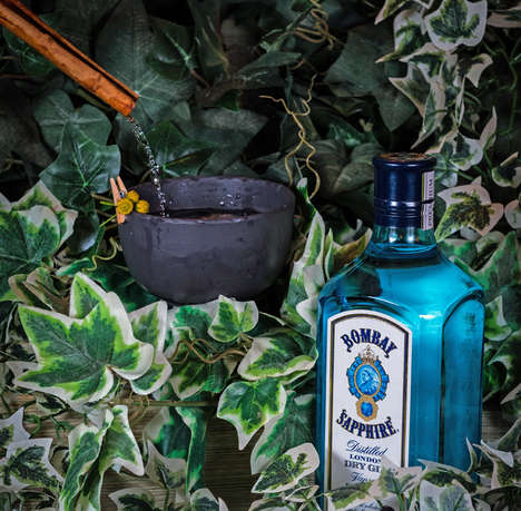 Botanical Multi-Sensory Cocktails - These Bombay Sapphire Cocktails Explore Dynamic Ingredients