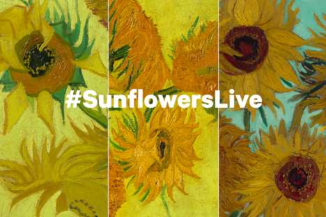 Virtual Painting Exhibitions - Facebook Users May Tune in for a Viewing of Van Gogh's Sunflowers