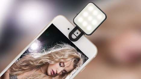 Attachable Smartphone Lights - This Mini Phone Attachment Creates the Perfect Selfie Lighting