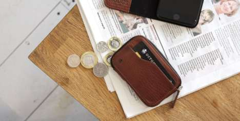 Space-Optimizing Leather Wallets - The Compact Coin Wallet Design Can Hold Up to 17 Cards