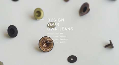 Customizable Denim Designs - Noble Denim is Bringing Custom Denim to the Masses with 'DYO Jeans'