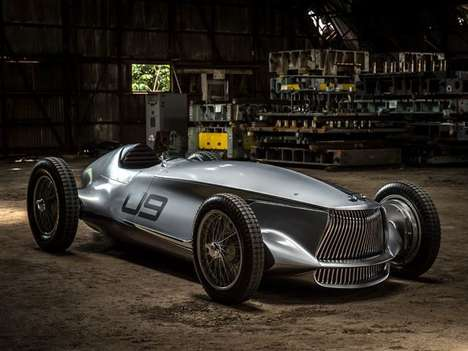 Retro Japanese Race Cars - The Infiniti Prototype 9 is an Electric-powered Tribute to 1940s Racing