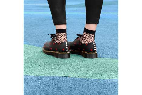 Heart-Branded Punk-Inspired Footwear