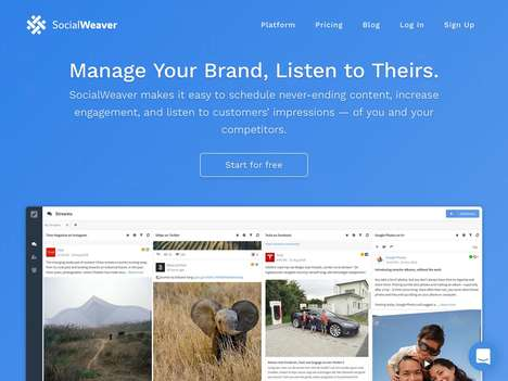 Competitor Social Media Platforms - The 'SocialWeaver' Social Media Management Platform is Intuitive