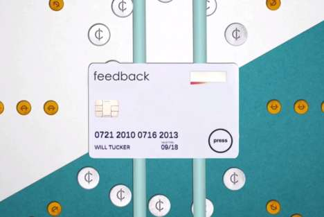 Real-Time Budgeting Cards - The Feedback Card Features a Button for Finance Monitoring