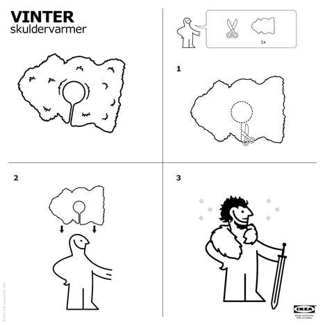 DIY Sheepskin Capes - This IKEA Guide Details How to Turn a Rug Into a Game of Thrones Cape
