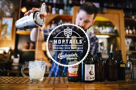 Beer-Based Cocktails - Budweiser Budvar is Collaborating with Bartenders to Create 'Hoptails'